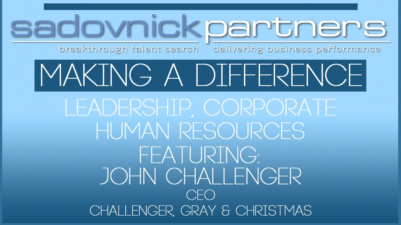 Challenger Gray Christmas.John Challenger Ceo Challenger Gray Christmas Leaders Making A Difference