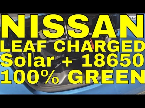 Nissan Leaf charged with 20kWh offgrid solar setup