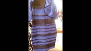 Какого цвета платье? Бело-золотое или сине-чёрное