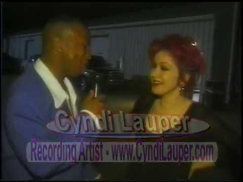 Cyndi Lauper  1997 with The Caleb Crump TV   Full Access