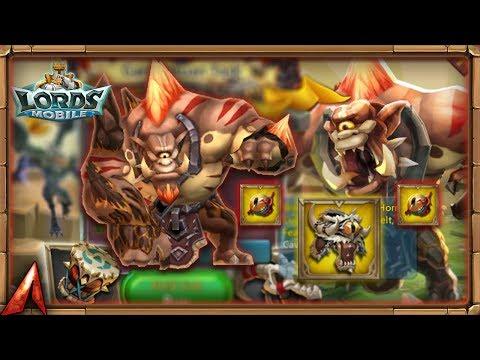 Lords Mobile - Taking Gargantuan Belt To Legendary! Opening Boxes!