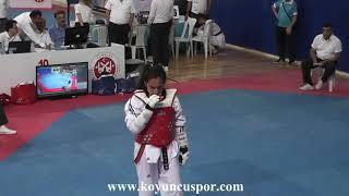 59kg Quarter Final Sude Yaren Uzunçavdar vs D Karataban 2019 Turkish Cadet Taekwondo Chi