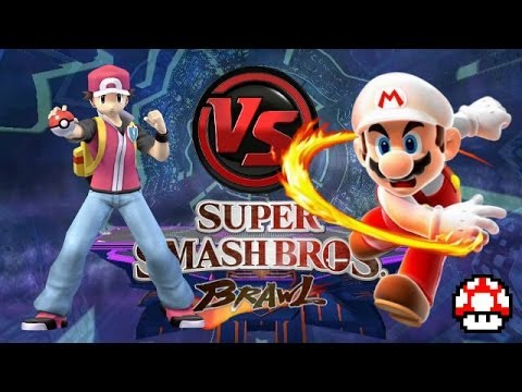 Super Smash Bros BRAWL Pokemon Trainer Vs Mario Wii U Live Commentary Gameplay YouTube