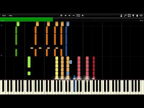 Bleach Opening 5 FULL - Rolling Star Synthesia Piano MIDI
