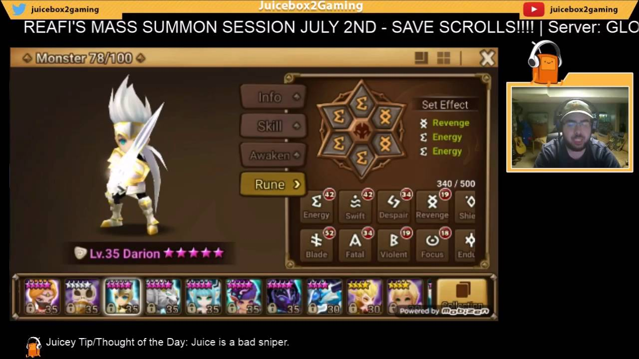 Summoners war monster guide.