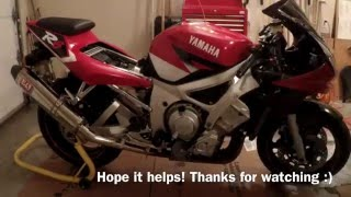 Motorcycle Carburetor Sync on Yamaha R6 2001 (粵)