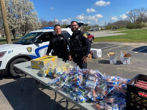 Goshen Officers Help Students While School Buildings Are Closed For COVID-19 Pandemic