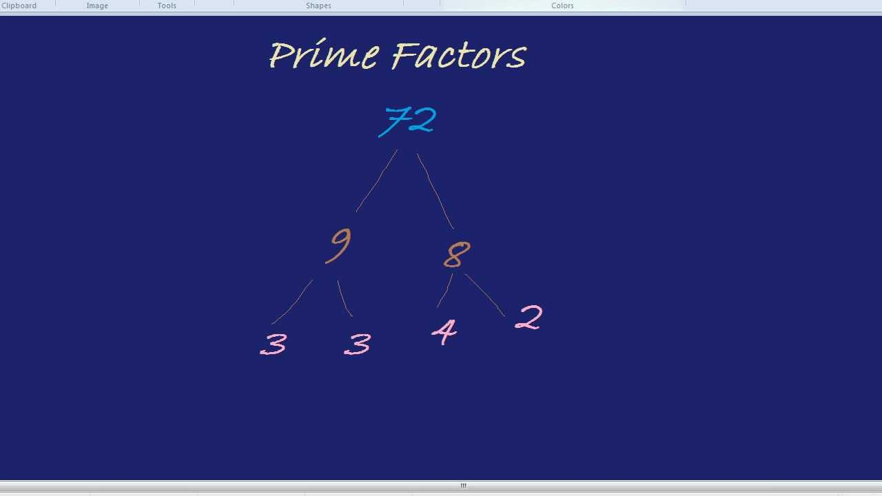 Worksheet Prime Factorization Of 441 product of prime factors youtube factors