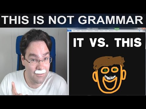 It vs. This vs. It Subjective Objective It This Determiner This Pronoun This English Video