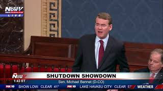 WATCH: Senator Michael Bennet UNLOADS On Republicans And Trump For Government Shutdown