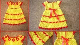 Детские платья. Вязание крючком.