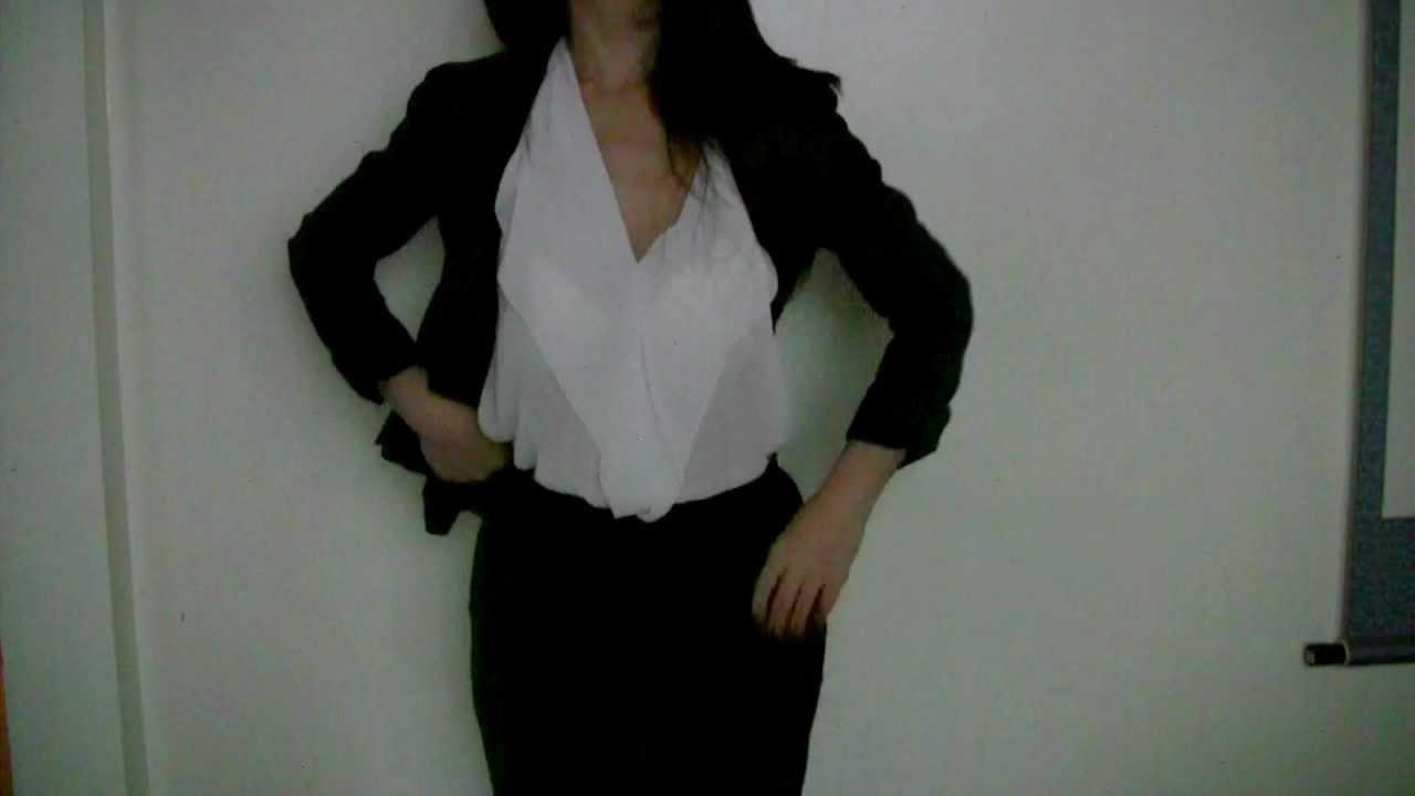 55230d77cce OOTD  Chic Office Wear  Blazer + Chiffon - YouTube