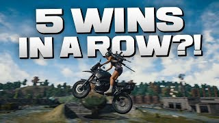 CAN WE GET 5 WINS IN A ROW?! - BATTLEGROUNDS (PUBG)