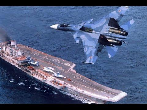 Авианосец 'Адмирал Кузнецов'  наводит ужас на американских вояк!