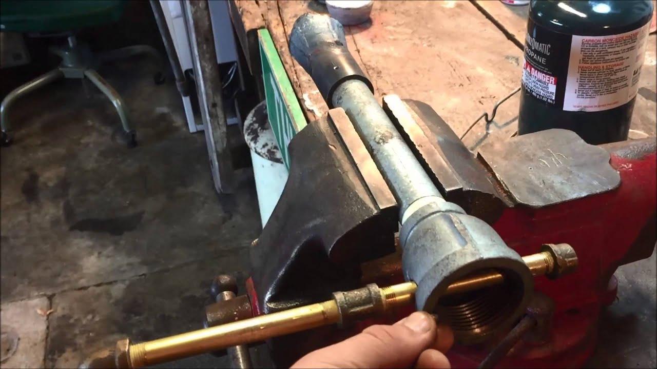 Homemade Propane Foundry Burner Youtube