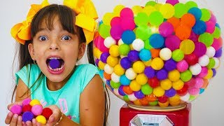 Laurinha e Histórias para crianças sobre doces e balas e frutas 🍭🍬 🍎