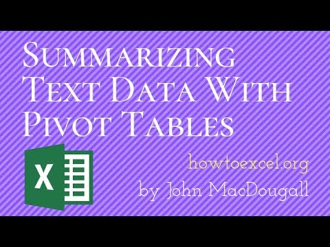 Summarizing Text Data With Pivot Tables   How To Excel
