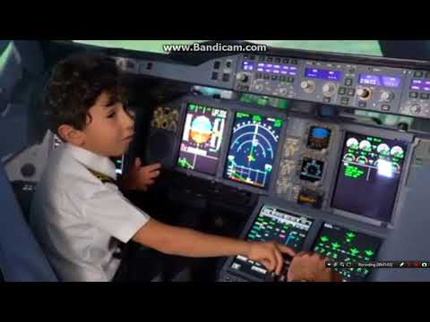 FIRST YOUNGEST PILOT OF THE WORLD  ADAM ETIHAD AIRLINES UAE