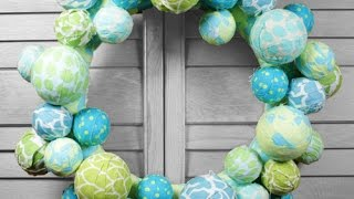 Diy Fabric Ball Wreath Tutorial