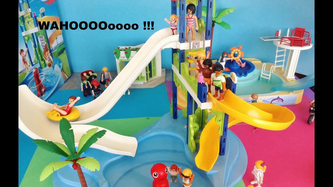 Playmobil summer fun 6669 piscine pool family fun youtube for Piscine playmobile 4858