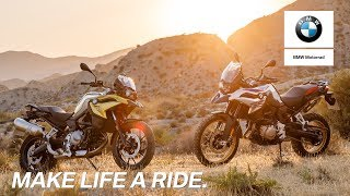 IN THE SPOTLIGHT: BMW F 750 GS and BMW F 850 GS.