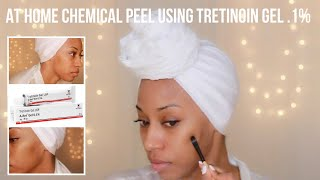 At Home Chemical Peel Using Tretinoin Gel .1% | Day 1 | How to Apply