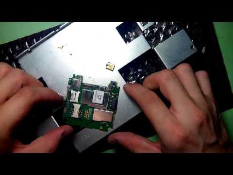 Alcatel OT-808 замена гнезда зарядки