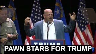 RICK HARRISON Pawn Stars Endorses Donald Trump for President Rally Las Vegas Nevada AMAZING SPEECH!