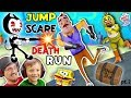 watch he video of HELLO NEIGHBOR SPONGEBOB DEATHRUN vs. BENDY & THE INK MACHINE! Krusty Krab FNAF Jump Scares 4 FGTEEV