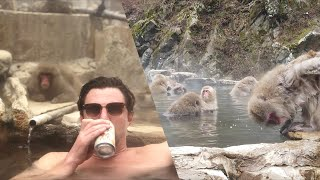 SWIMMING WITH SNOW MONKEYS | Whoa! That's Weird