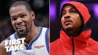 Download An injured KD is worth more than any Knicks player ever, including Melo - Stephen A. | First Take Mp3 and Videos