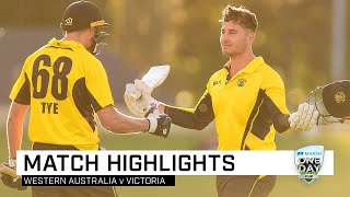 Highlights: Western Australia v Victoria, Marsh One-Day Cup 2019