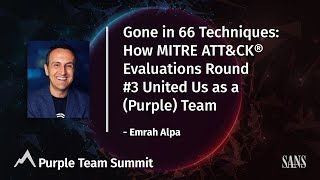 Gone in 66 Techniques – How MITRE ATT&CK® Evaluations Round #3 United Us as a (Purple) Team