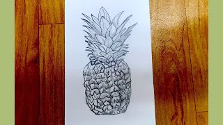 pineapple easy very draw sketch