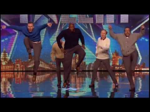 Old Men Grooving bust a move, and maybe their backs!   Britain's Got Talent 2015 1