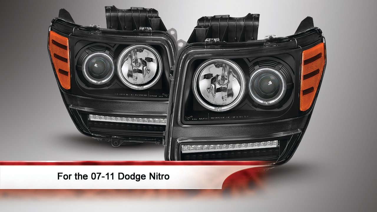 07-11 Dodge Nitro CCFL Halo Projector Headlights With LED
