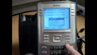 Change a Avaya/Nortel phone from manual configuration to auto configuration