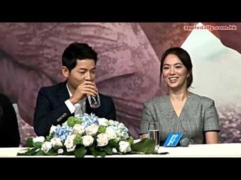 Hong Kong Press Conference - Song Hye Kyo and Song Joong Ki