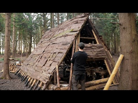Building a Viking House | 10 Day Bushcraft Shelter Build