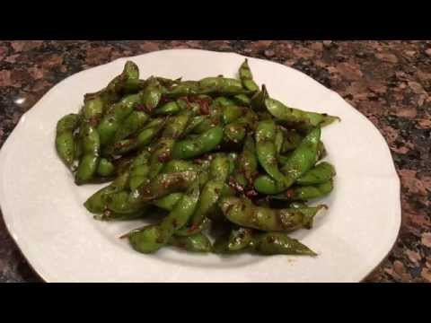 Spicy hot Asian style edamame 辣味