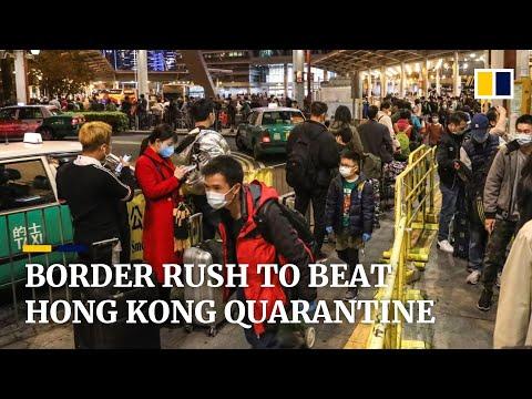 Coronavirus: Cross-border Commuters Rush Back To Hong Kong Before City Imposes Quarantine Measures