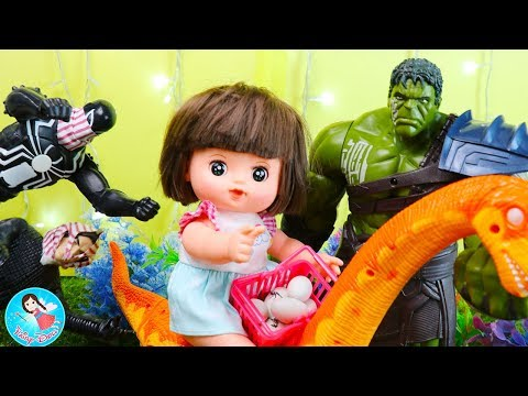 ละครสั้น ของเล่นไข่ไดโนเสาร์ ตามหาไข่ไดโนเสาร์  Jurassic World Dinosaurs Baby Doll Fun Story Toy