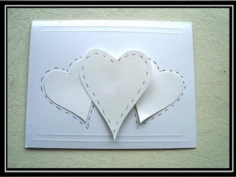 Card making hearts valentine s day card paper crafts youtube