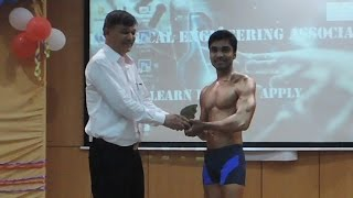 Body Builder Manohar stage show at 2015 MEA Program.