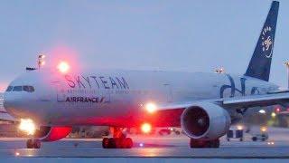 """Air France """"Skyteam"""" Boeing 777-300(ER) (B77W) departing Montreal (YUL/CYUL)"""