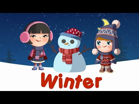 Winter words for kids (flashcards video)