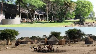 Shakawe River Lodge and the small village