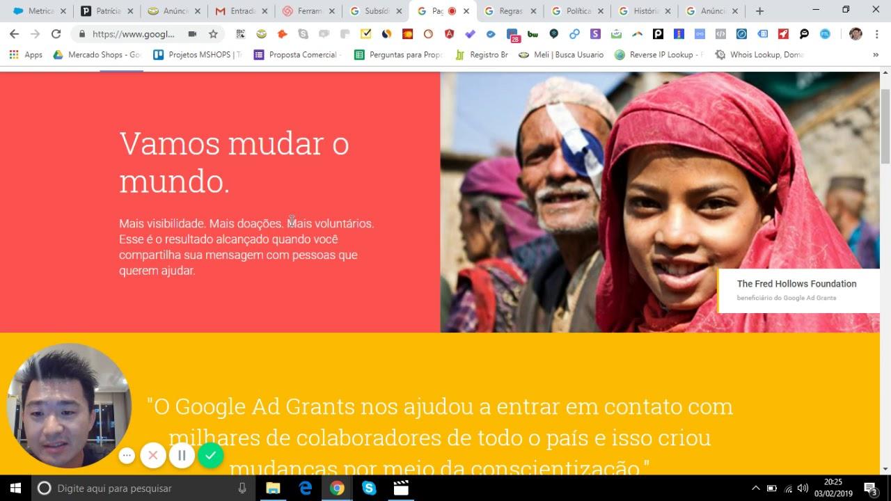Google Ad Grants // Subsídios para organizações sem fins lucrativos