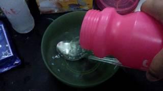 Cara membuat slime activator dgn menggunakan 2 bahan ( garam & air)