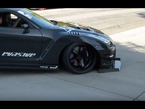Custom Nissan Gt R Scraping Front Splitter Youtube